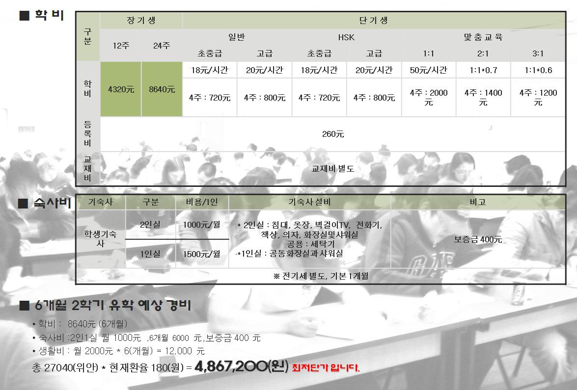 가중중국어전문학교(가중학원) 학비와기숙사비.jpg